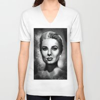 grace V-neck T-shirts featuring Grace by Lily Fitch