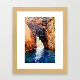 The lost valley Framed Art Print