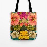 discount Tote Bags featuring Perky Flowers! by Love2Snap