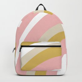 Splendid Rainbow in Golden Mustard Yellow, Pink, Taupe, and White Backpack
