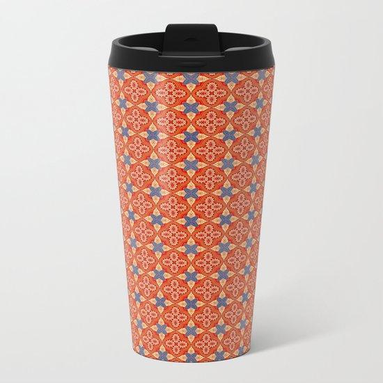 Moroccan Motet Pattern Metal Travel Mug