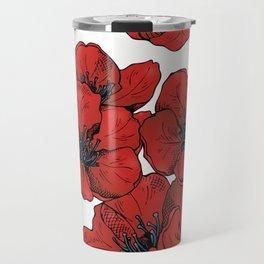 Poppies Pattern Travel Mug