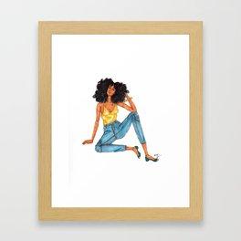 Lounging Framed Art Print