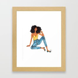 Lounging Framed Art Print