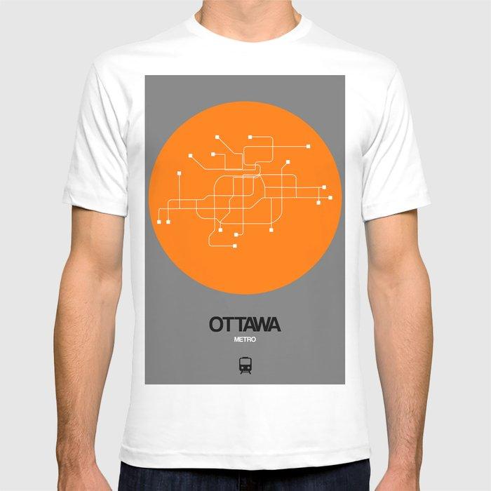 Ottawa Subway Map.Ottawa Orange Subway Map T Shirt By Naxart