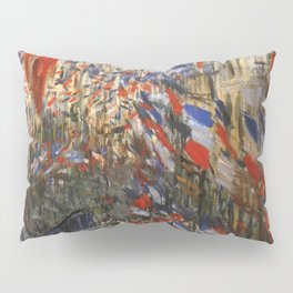 "Claude Monet ""The Rue Saint Denis, 30th of June 1878"" Pillow Sham"