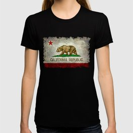California Republic state flag Vintage T-shirt