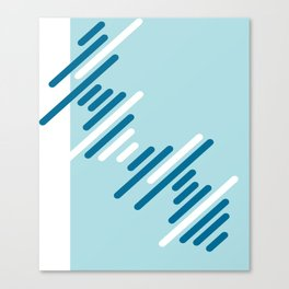Blue Pattern Canvas Print