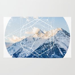 The Glowing Alps Dotted Star Rug
