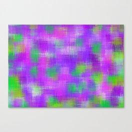 purple and green plaid pattern Canvas Print