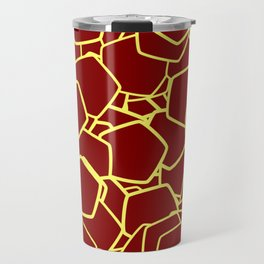 Random Polygons Midnight Lemon Travel Mug