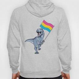 Pansexual Flag Dinosaur LGBTQIA Pan Pride LGBT Nonbinary Decal Hoody