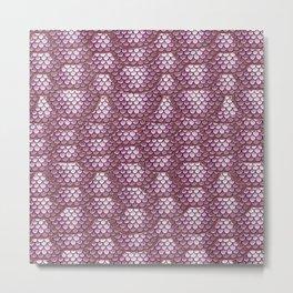 Dusty Rose Snake Skin Pattern Metal Print