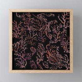 scarlet underwater Framed Mini Art Print