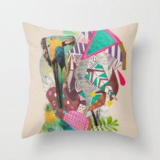TROPICANA MACAW  Throw Pillow
