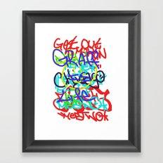 Graffiti Is Life Framed Art Print