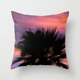 Palm Sunset - 7a Throw Pillow
