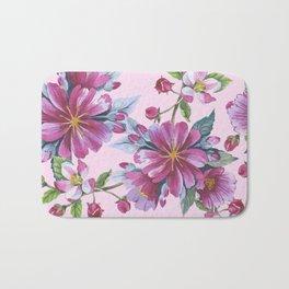 Apple Blossom Pattern 02 Bath Mat