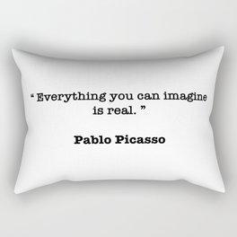 Pablo Picasso Quote Rectangular Pillow