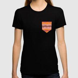 Abstract Orange, pink, purple collage pattern T-shirt