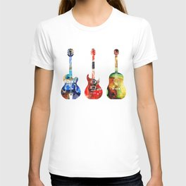 Guitar Threesome - Colorful Guitars By Sharon Cummings T-shirt