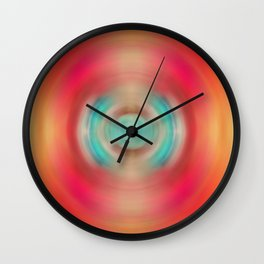 Life Source - Energy Abstract Art By Sharon Cummings Wall Clock