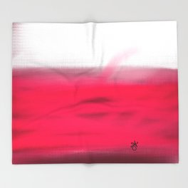Pink Fields Abstract Painting - Dreaming in Nature Throw Blanket