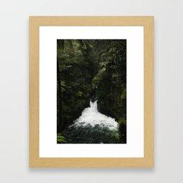 Kaituna Waterfall Framed Art Print