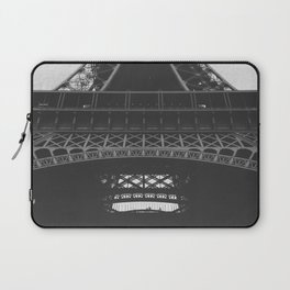 Eiffel Tower Paris France in Black and White Laptop Sleeve