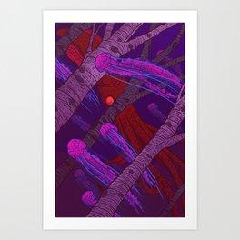 Jellyfish Forest Art Print