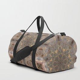 Copper Brown Terracotta Mandala and Tile Duffle Bag