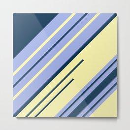 Diagonal stripes design 2 Metal Print