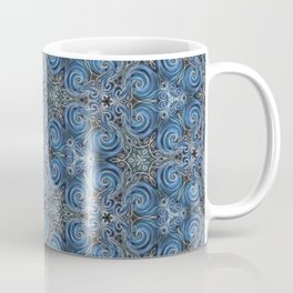 swirl blue pattern Coffee Mug