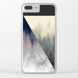 Inverted Forest Clear iPhone Case