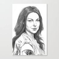 alex vause Canvas Prints featuring Alex Vause by petitehoneybee