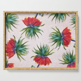 Crown imperial flowers Serving Tray