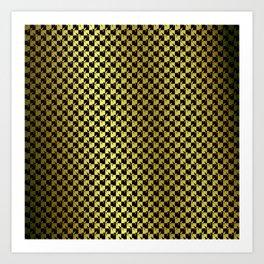Black and Gold Checkerboard Weimaraner Art Print