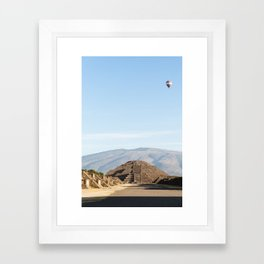 Teotihuacan - Pyramid of the Moon Framed Art Print