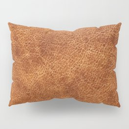Brown vintage faux leather background Pillow Sham