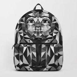 Black and White Tutankhamun - Pharaoh's Mask Backpack