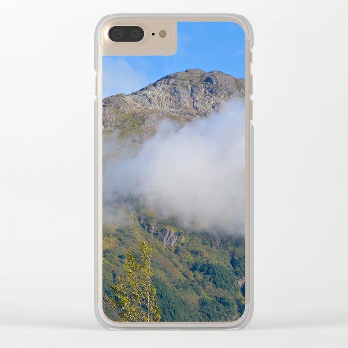Autumn Mountain Fog - Alaska Clear iPhone Case