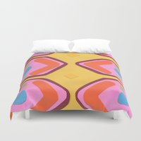 deco Duvet Covers featuring Deco by Hollis Campbell