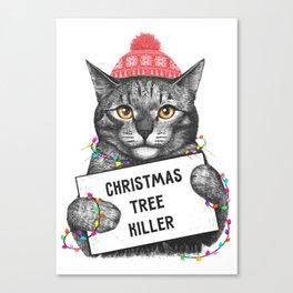 Christmas tree killer Canvas Print