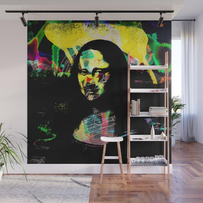 Mona Lisa POP ART PAINTING PRINT Wall Mural by robertr Society6