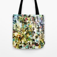 circles Tote Bags featuring Circles by Tina Carroll