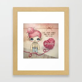 Yarnita - The Fairy who loves to knit Framed Art Print