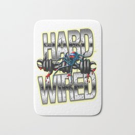 Hard Wired Metal and Barb Wire Street Art Bath Mat