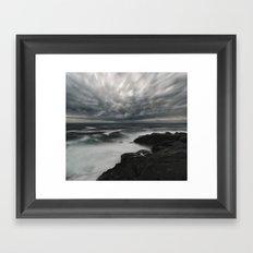 Storming Moonlight Framed Art Print