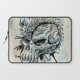 skull hand draw with flame Laptop Sleeve