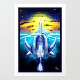 Dolphin's Dive Art Print